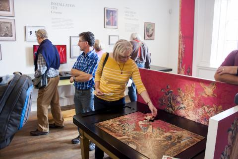 The room with the exhibition story at Croome
